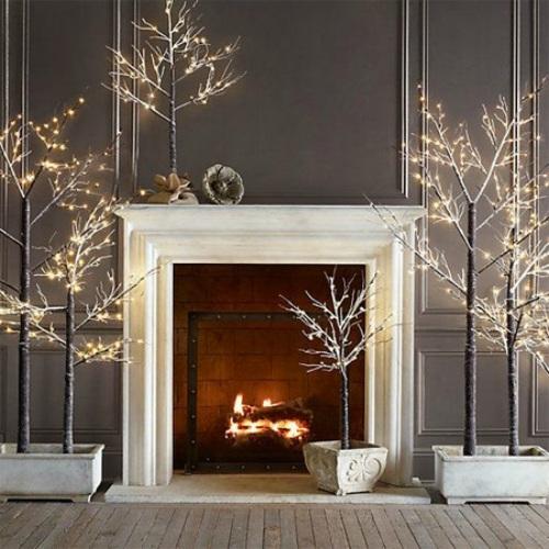 Minimalistische kerstbomen