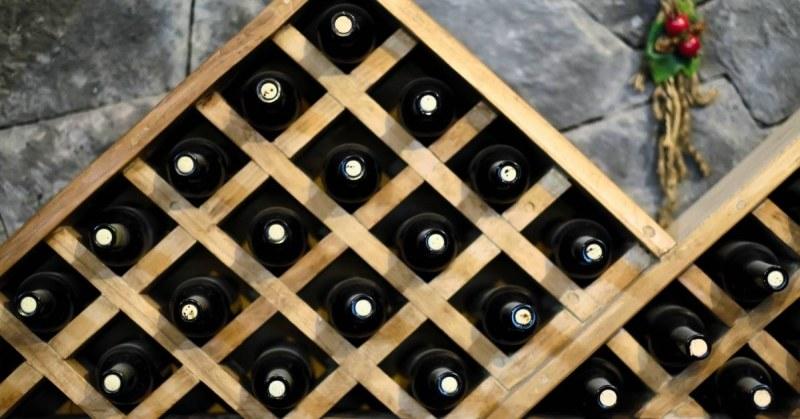 Uniek wijnrek van hout