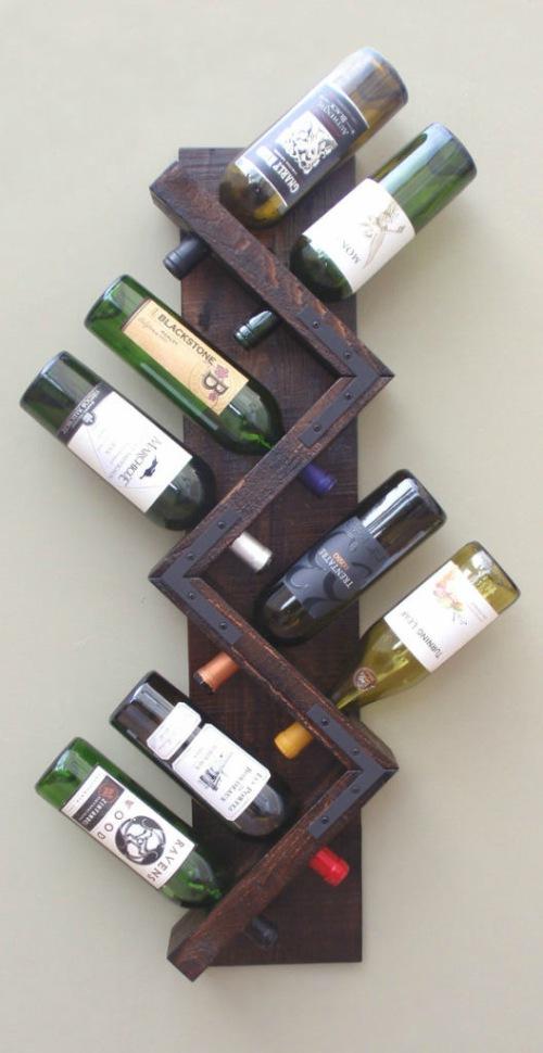 Wijnrek zigzag