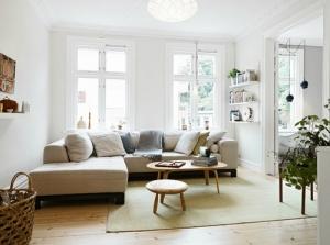 Hoekbank in kleine woonkamer - BuitenlevenGevoel