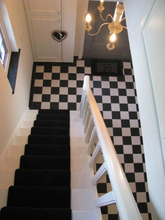 Zwart witte vloer