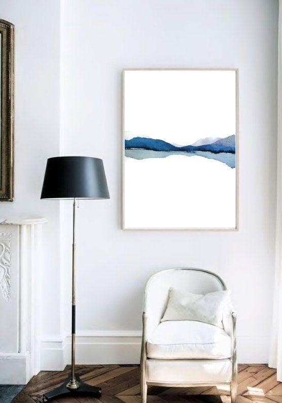 schilderij aan muur aquarel