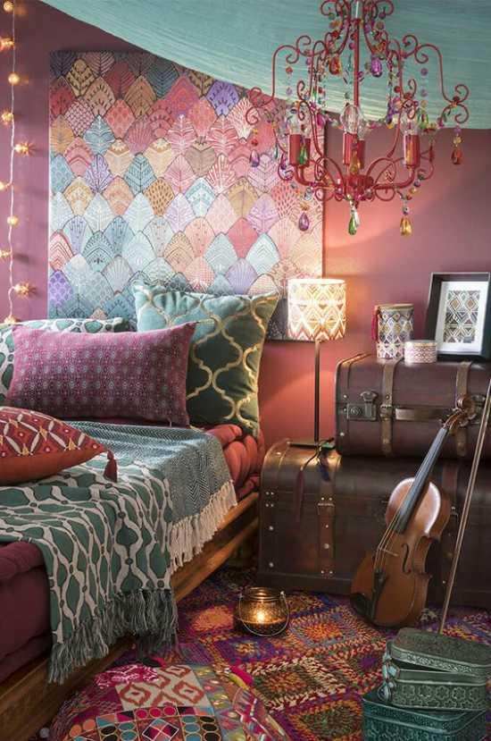 Bohemian stijl slaapkamer