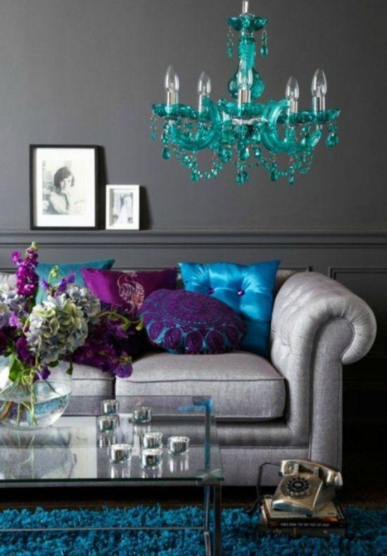 Gekleurd interieur